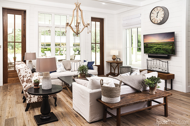 Family room with a relaxed feel