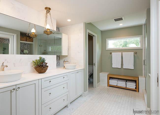 Extensive master bathroom remodel