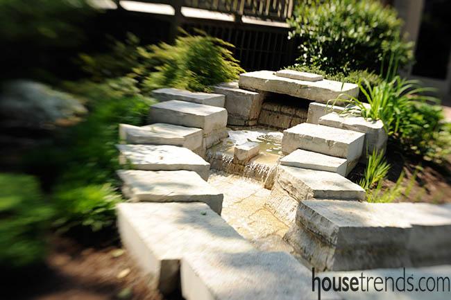 Water feature calms a garden design