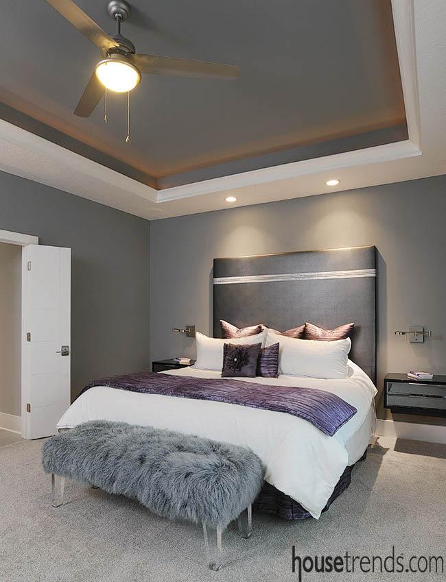 Custom headboard complements a bedroom design
