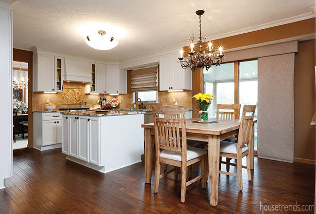 Kitchen remodel with a casual dining space