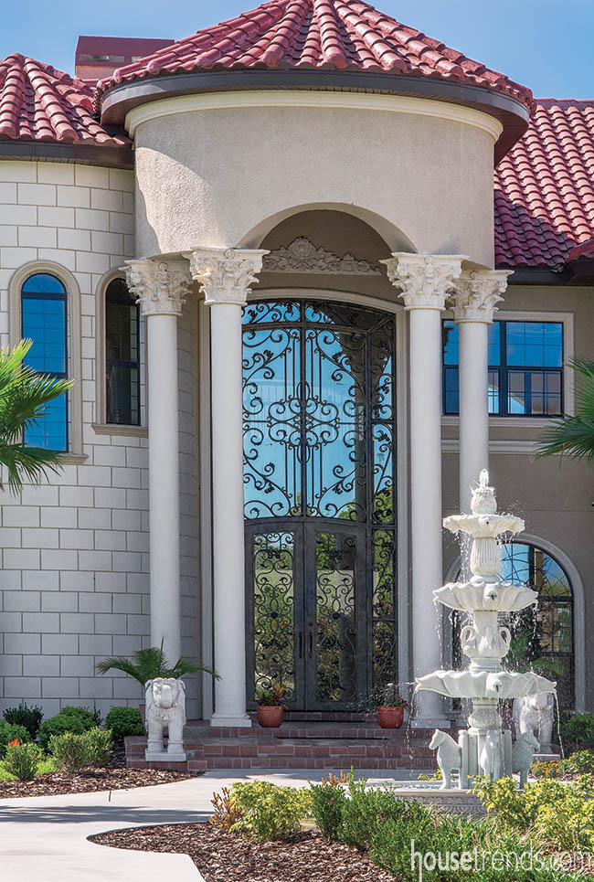 Entry door makes a grand statement