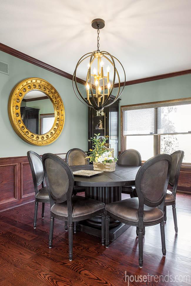 Trendy light in a dining room