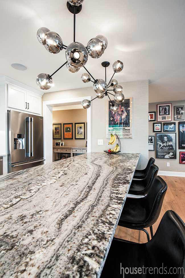 Granite countertop dominates a kitchen