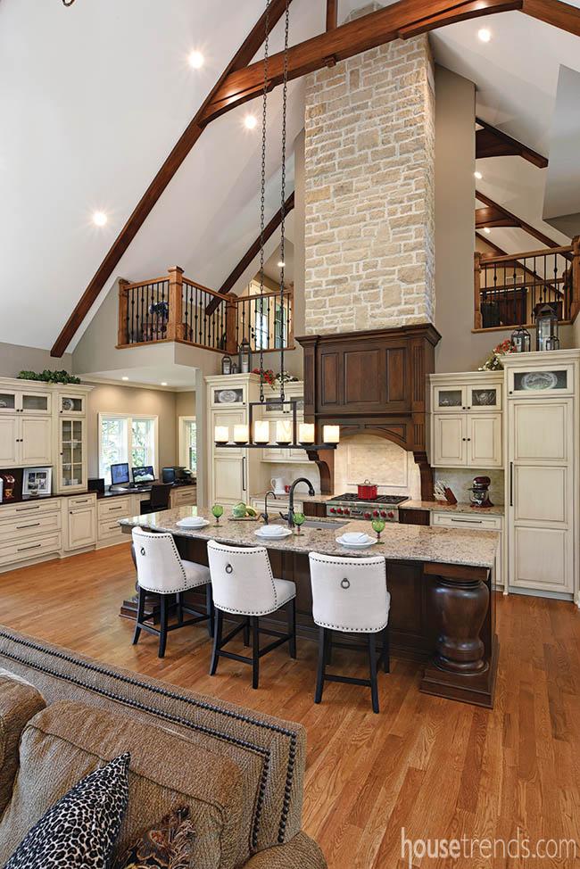 Kitchen cabinetry hides appliances