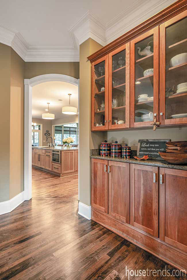 Butler's pantry sports refinished floors
