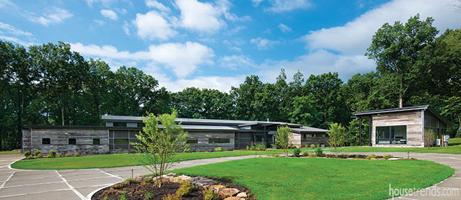 Two architectural styles merge in a custom home