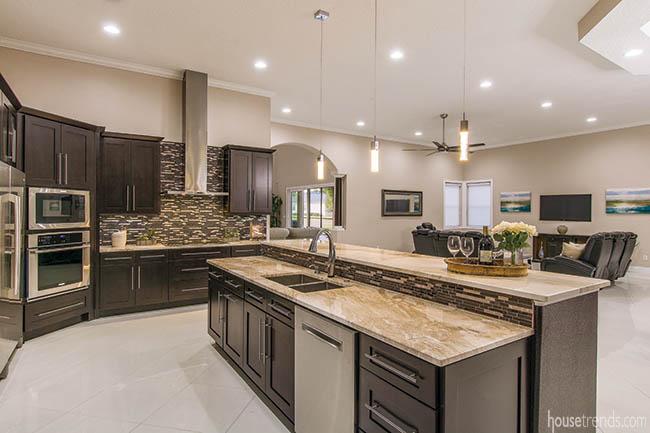 Kitchen island with plenty of prep space