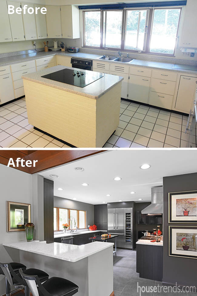 Remodeled kitchen with a sleek design