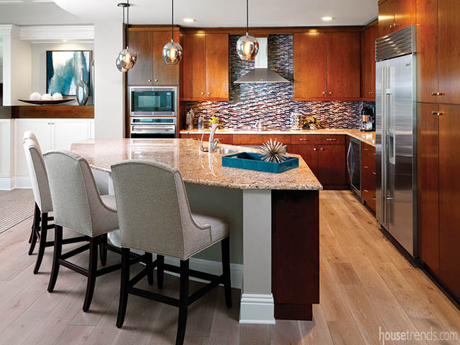 Kitchen cabinetry survives a remodel