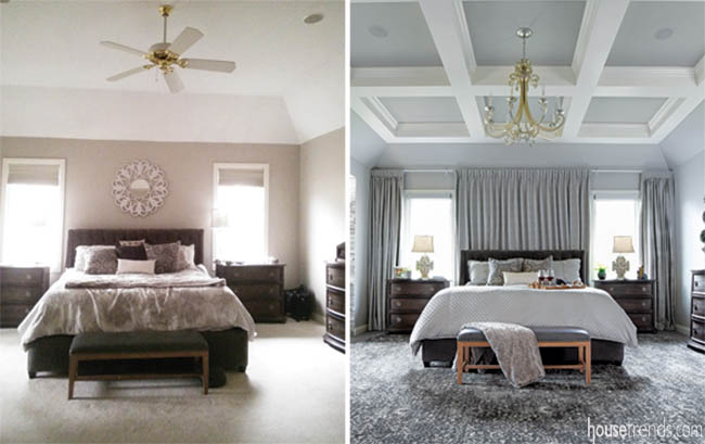 Elegant touches in a master bedroom remodel