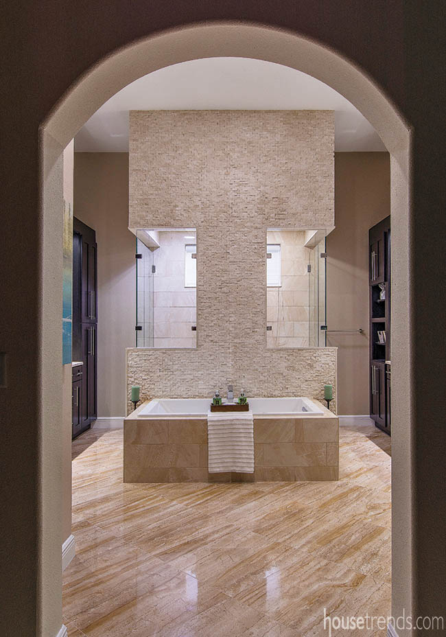 Relax in this spacious master bathroom