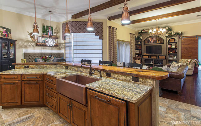 Open floor plan allows kitchen to flow into family room