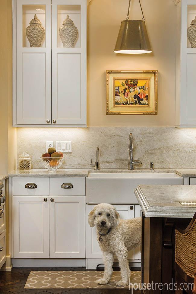 Neutral colors create a calming kitchen design