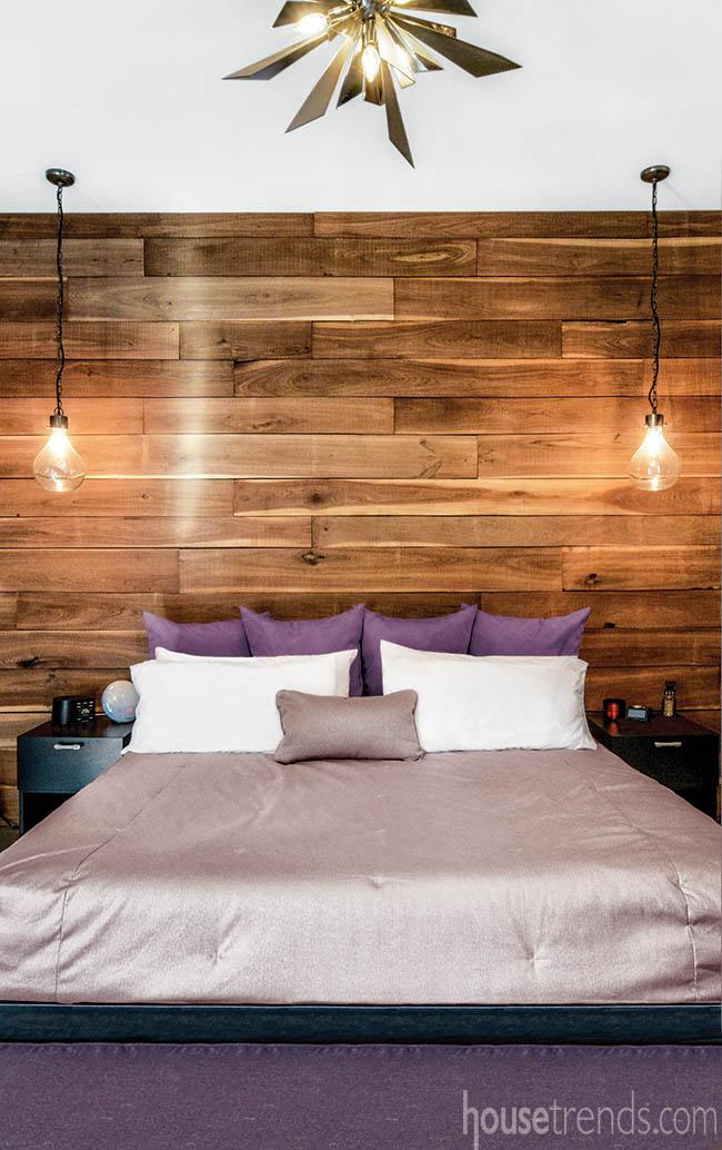 Wall treatment made of walnut