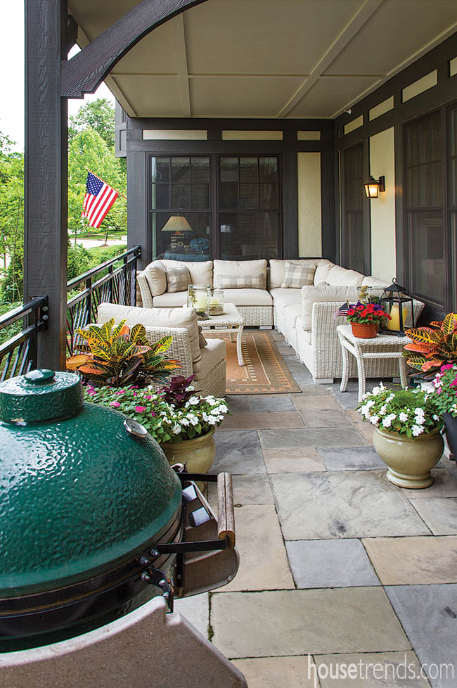 Patio with plenty of room for a grill