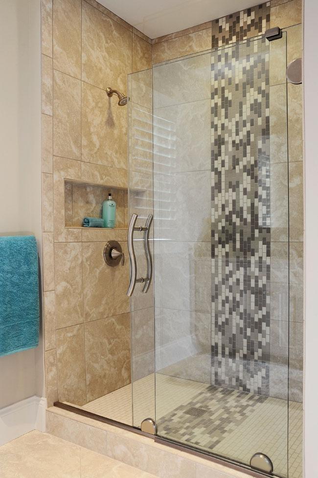 Frameless shower doors keep things simple
