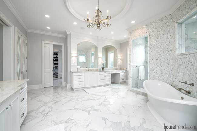Vanity with a little extra space