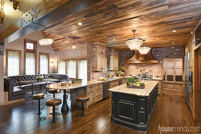 Kitchen remodel creates a rustic feel