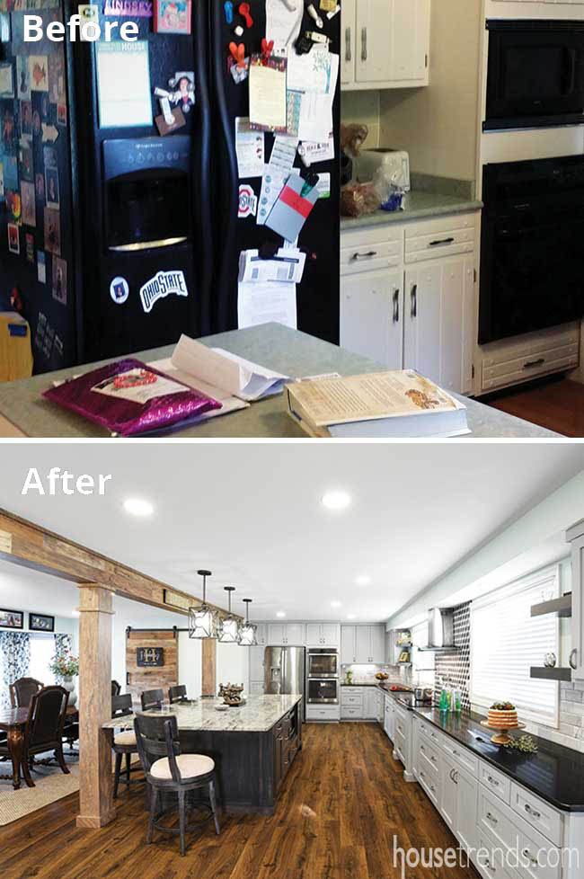 Remodel results in an open kitchen design
