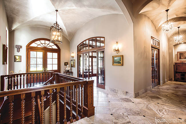 Formal entry design greets guests