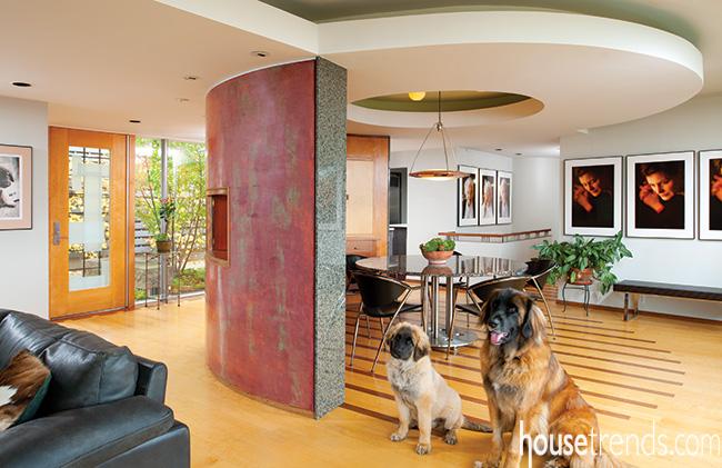 Circular ceilings are trending dining room décor ideas