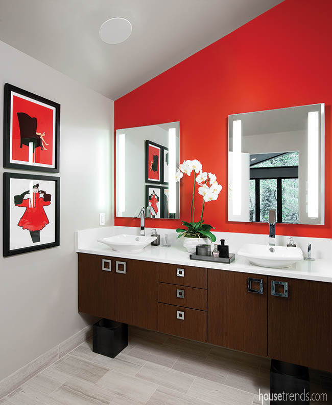 Bathroom remodel gets a racy design