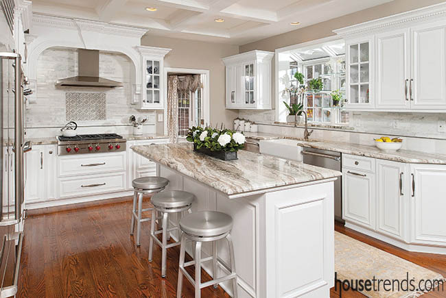 White cabinetry rules kitchen color trends