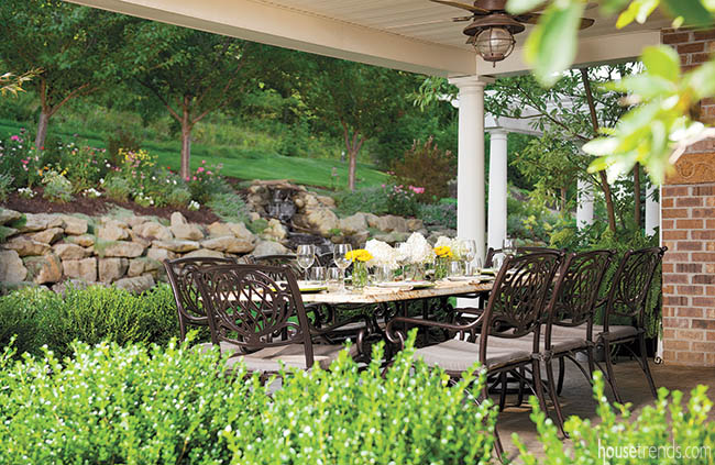 Wrought iron furniture is perfect for a patio