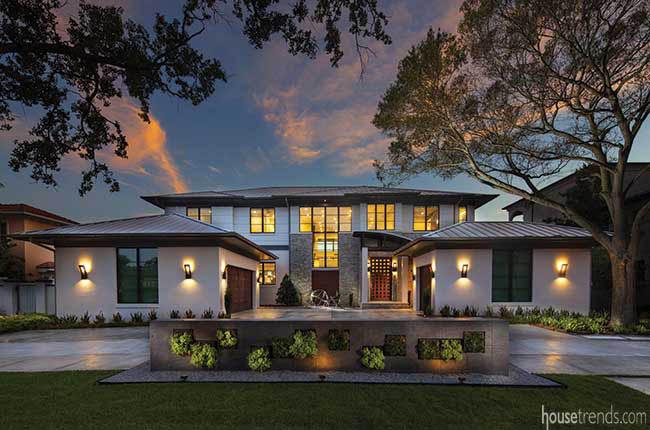 New home with a contemporary facade