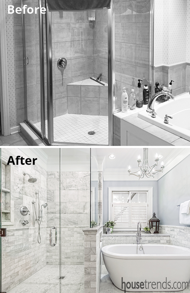 Master Bath Makeover Is Playing With Marbles