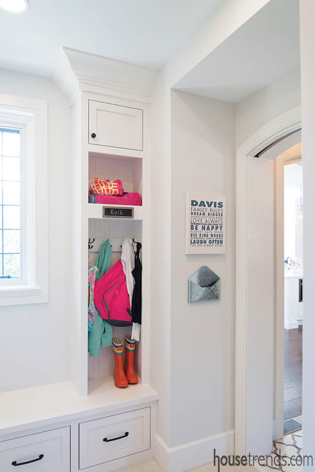 Mudroom keeps things neat and tidy