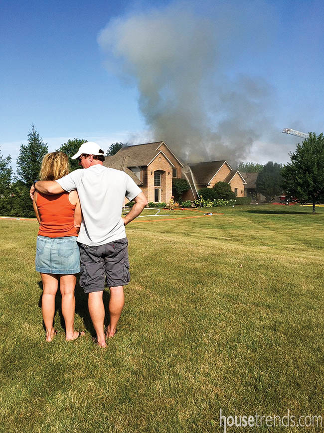 House fire damages a home