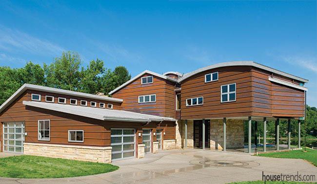 Eco-friendly home design with plenty of amenities
