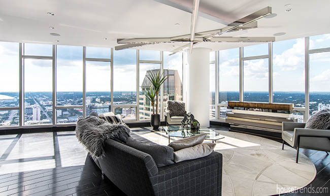 Family room with a gorgeous view