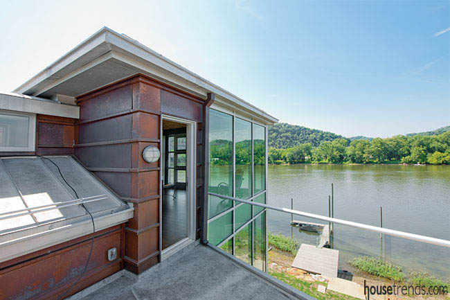 Environmentally friendly home design with a view