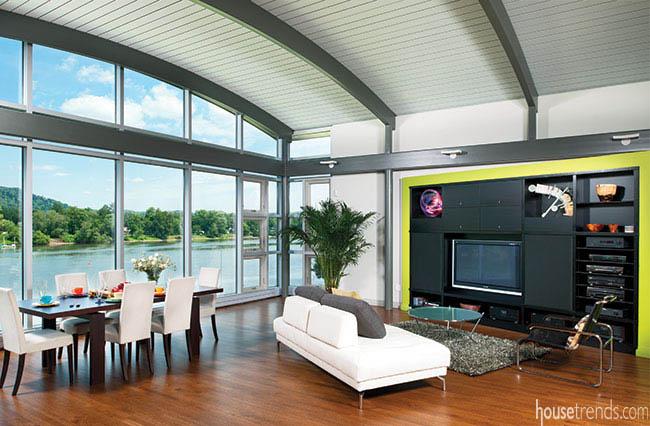 Barrel-vaulted ceiling draws interest