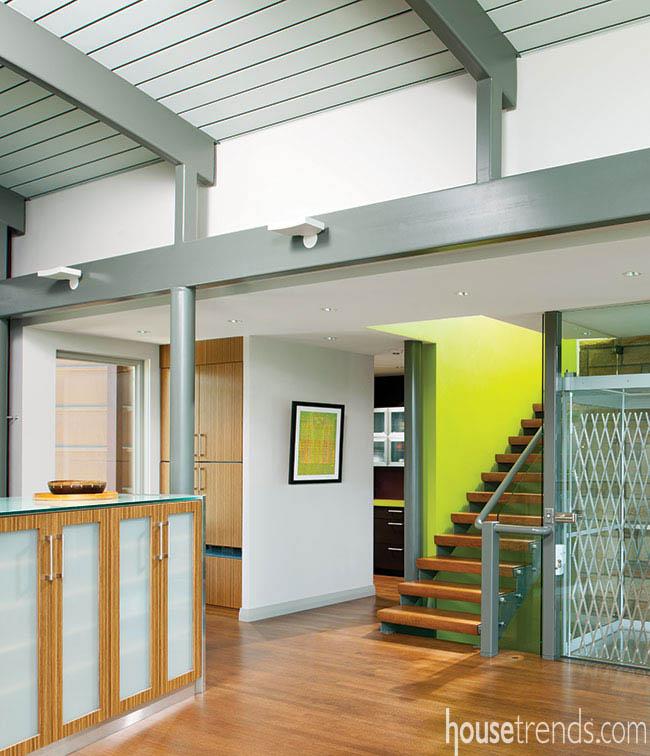 Eco-friendly home boasts an elevator