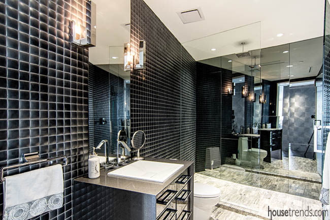 Wall tile pops in a guest bathroom