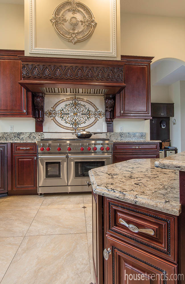 Backsplash with a touch of home