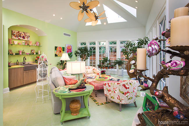 Windows give life to a conservatory