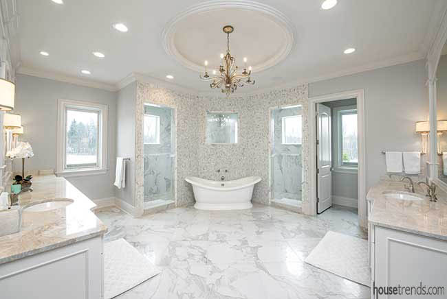 Natural light in a master bathroom design