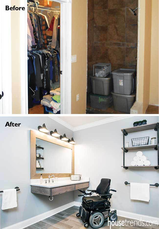 Bathroom remodel creates plenty of extra space