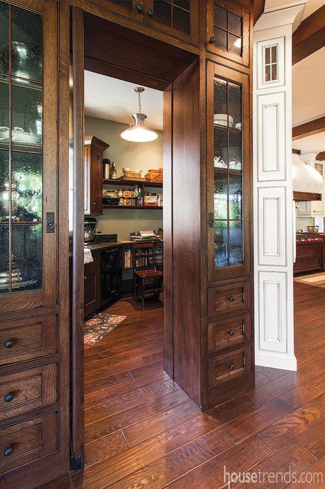 Pantry door mimics look of cabinetry