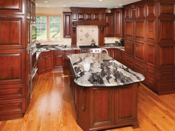Cheery cherry kitchen cabinetry