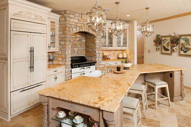 Granite countertops reflect homeowner's personality