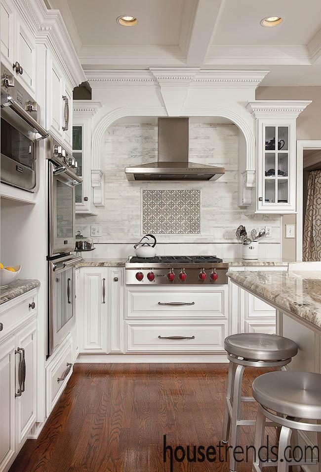Trendy kitchen boasts Wolf appliances