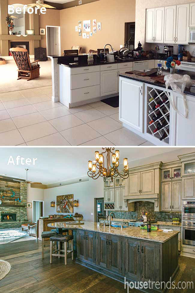 Kitchen remodeled to create one large gathering space