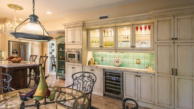 Painted kitchen cabinets show their age well