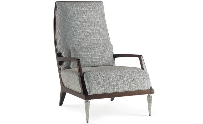 Padded chair with gorgeous front leg finish